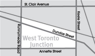 West Toronto Junction Map