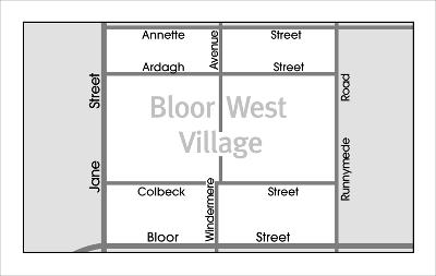 Bloor West Village Map Overview